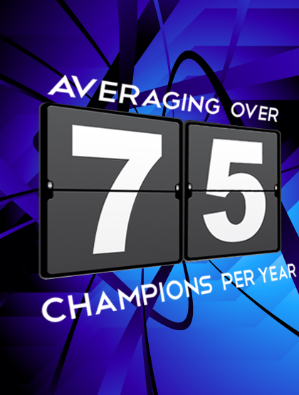 Averaging Over 60 Champions Per Year